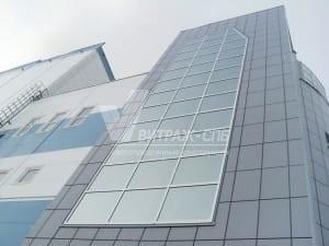 Остекление фасада здания Южной ТЭЦ-Витраж СПб