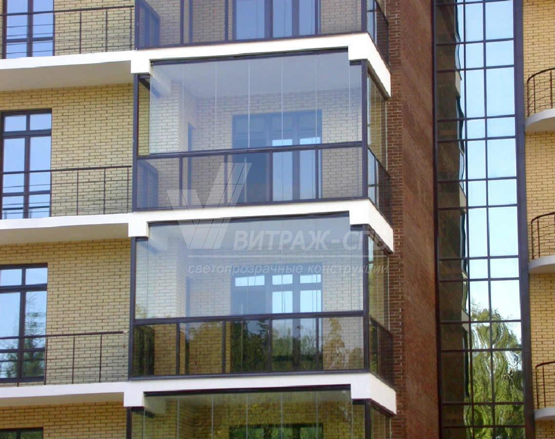 Французское и финское остекление балконов-Витраж СПб