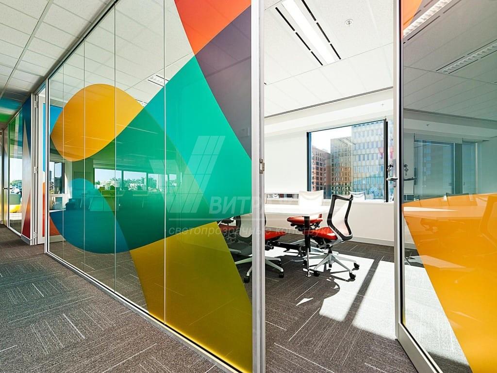 Дизайн стеклянных дверей-Витраж СПб