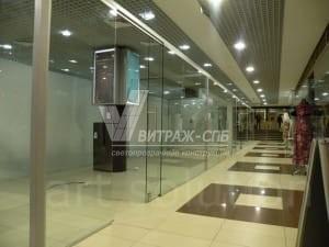 Перегородки в торговых центрах-Витраж СПб
