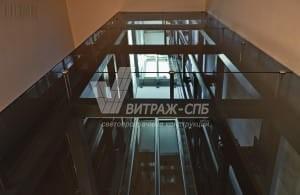 Стеклянная шахта лифта: преимущества выбора-Витраж СПб