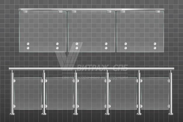Стеклянное балконное ограждение-Витраж СПб
