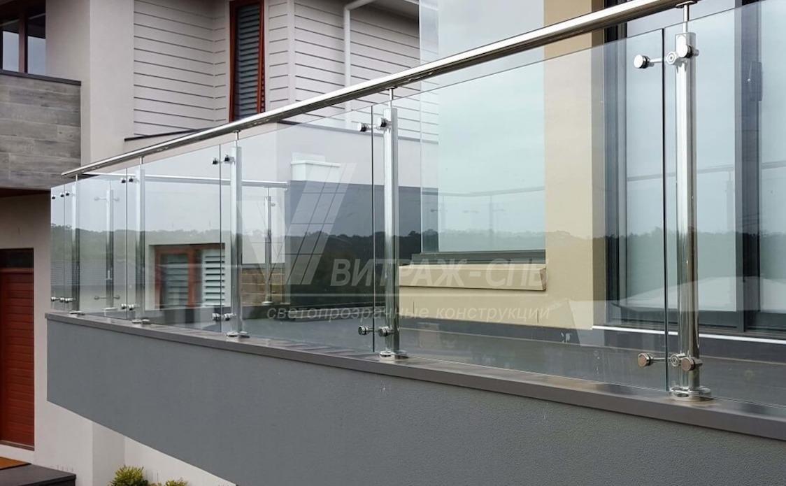 стеклянное перекрытие балкон